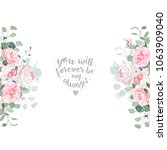 cute wedding floral vector... | Shutterstock .eps vector #1063909040