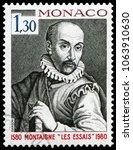 monaco  monaco   april 28  1980 ... | Shutterstock . vector #1063910630