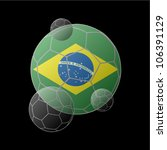 brazil flag in soccer ball | Shutterstock .eps vector #106391129