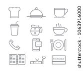 restaurant icons with white... | Shutterstock .eps vector #1063916000