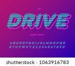 drive font trend typography.... | Shutterstock .eps vector #1063916783