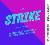 strike font modern typography.... | Shutterstock .eps vector #1063916804