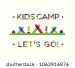 vector kids summer camp 2018...   Shutterstock .eps vector #1063916876
