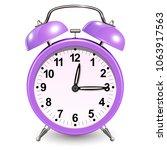 alarm clock purple  vector icon ... | Shutterstock .eps vector #1063917563
