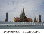 grand palace and wat phra keaw  ... | Shutterstock . vector #1063930343