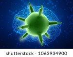 3d rendering viruses in... | Shutterstock . vector #1063934900