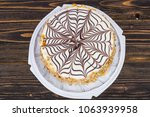 almond chocolate cake esterhazy.... | Shutterstock . vector #1063939958