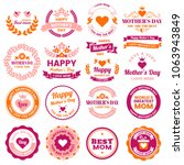 mother day vector label for... | Shutterstock .eps vector #1063943849