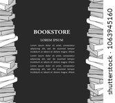 black and white illustration ... | Shutterstock .eps vector #1063945160
