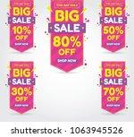 set of sale banner for super... | Shutterstock .eps vector #1063945526