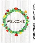 Color Vector Doors Wreath Of...