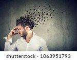 memory loss due to dementia or... | Shutterstock . vector #1063951793