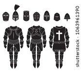 medieval knights armor vector...   Shutterstock .eps vector #1063961390