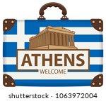 vector travel banner with... | Shutterstock .eps vector #1063972004