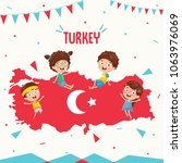 vector illustration of turkey... | Shutterstock .eps vector #1063976069