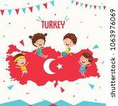 vector illustration of turkey... | Shutterstock .eps vector #1063976069