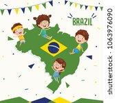 vector illustration of brazil... | Shutterstock .eps vector #1063976090