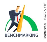 benchmarking  business concept... | Shutterstock .eps vector #1063977449
