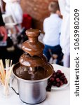 vibrant picture of chocolate... | Shutterstock . vector #1063980209