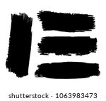 collection of hand drawn black... | Shutterstock .eps vector #1063983473