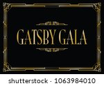 great gatsby gala background | Shutterstock .eps vector #1063984010