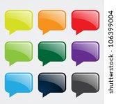 speech bubbles in different... | Shutterstock .eps vector #106399004