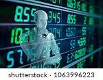 3d rendering humanoid robot... | Shutterstock . vector #1063996223