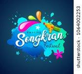 vector songkran festival of... | Shutterstock .eps vector #1064002253