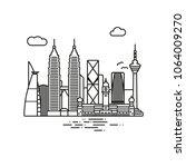 line icon style kuala lumpur... | Shutterstock .eps vector #1064009270