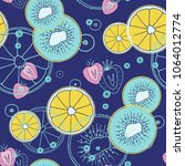 fresh seamless pattern with... | Shutterstock .eps vector #1064012774