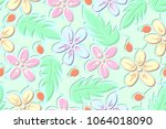 seamless pattern of the... | Shutterstock .eps vector #1064018090