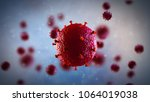 3d illustration of hiv virus.... | Shutterstock . vector #1064019038