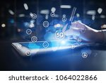 5g networks and... | Shutterstock . vector #1064022866