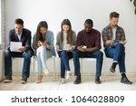 multi ethnic millennial people... | Shutterstock . vector #1064028809