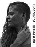 her stunning profile is...   Shutterstock . vector #1064030294