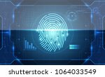 fingerprint integrated in a... | Shutterstock .eps vector #1064033549