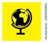 desktop globe icon vector | Shutterstock .eps vector #1064035853