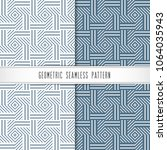 vector geometric seamless... | Shutterstock .eps vector #1064035943