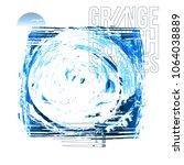 blue brush stroke and texture.... | Shutterstock .eps vector #1064038889