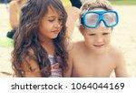 portrait of children on the... | Shutterstock . vector #1064044169