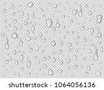 vector set of realistic water... | Shutterstock .eps vector #1064056136