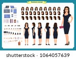 girl in evening dress character ... | Shutterstock .eps vector #1064057639