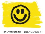 smiley flag vector hand painted ... | Shutterstock .eps vector #1064064314