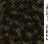 camouflage seamless pattern.... | Shutterstock .eps vector #1064069033