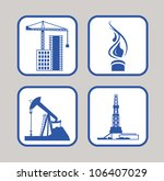 vector icons set of gas energy  ... | Shutterstock .eps vector #106407029