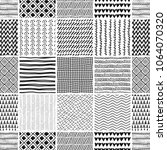 seamless pattern. patchwork.... | Shutterstock .eps vector #1064070320