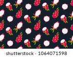 seamless tropical pattern with... | Shutterstock .eps vector #1064071598