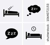 sleep icons set vector. bedtime ... | Shutterstock .eps vector #1064072153