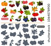 berries color flat and simple...   Shutterstock .eps vector #1064078900