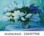 Wet Bouquet Of  Bird Cherry An...